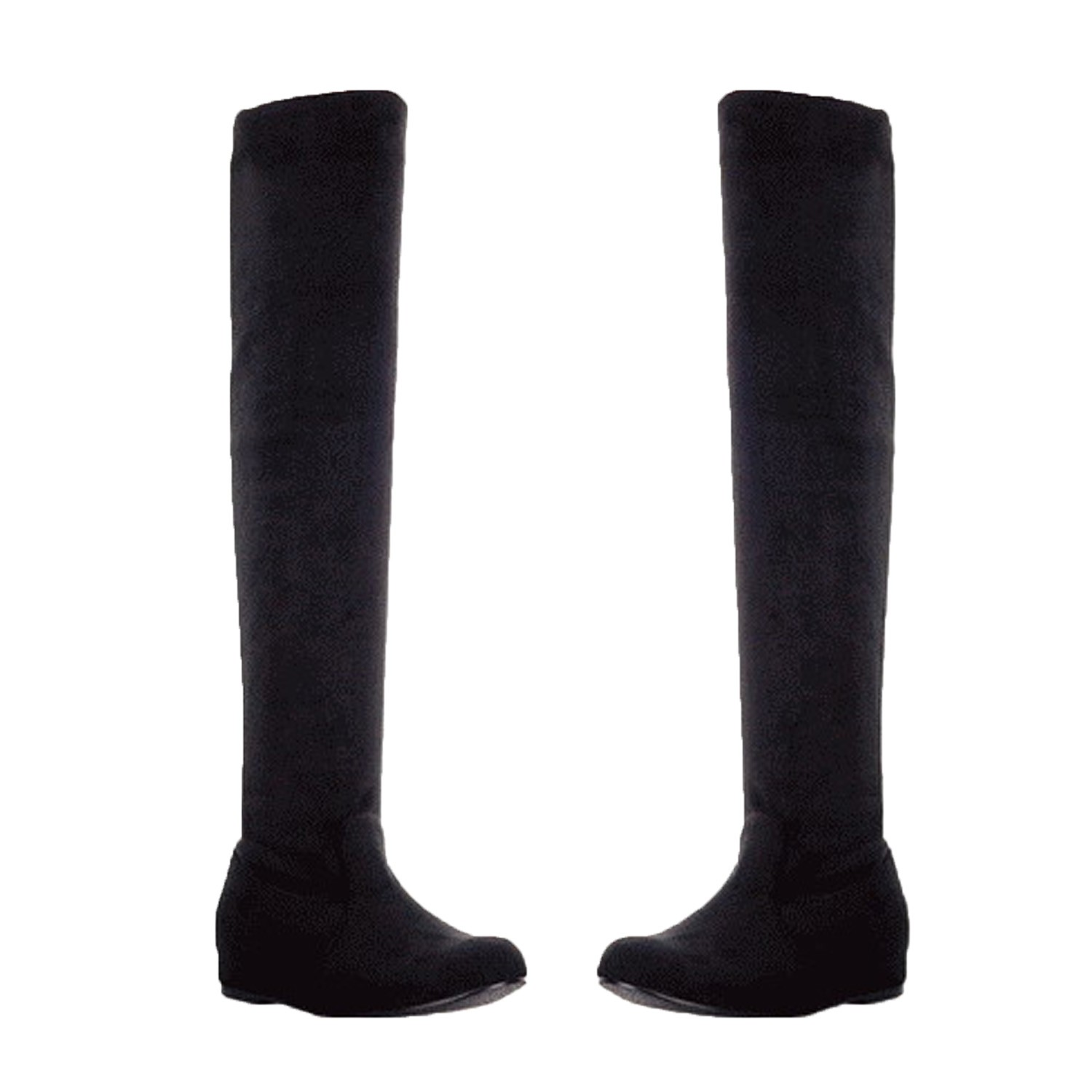 damen stiefel flach overknee schwarze langschaft winter boots overkneestiefel gr ebay. Black Bedroom Furniture Sets. Home Design Ideas
