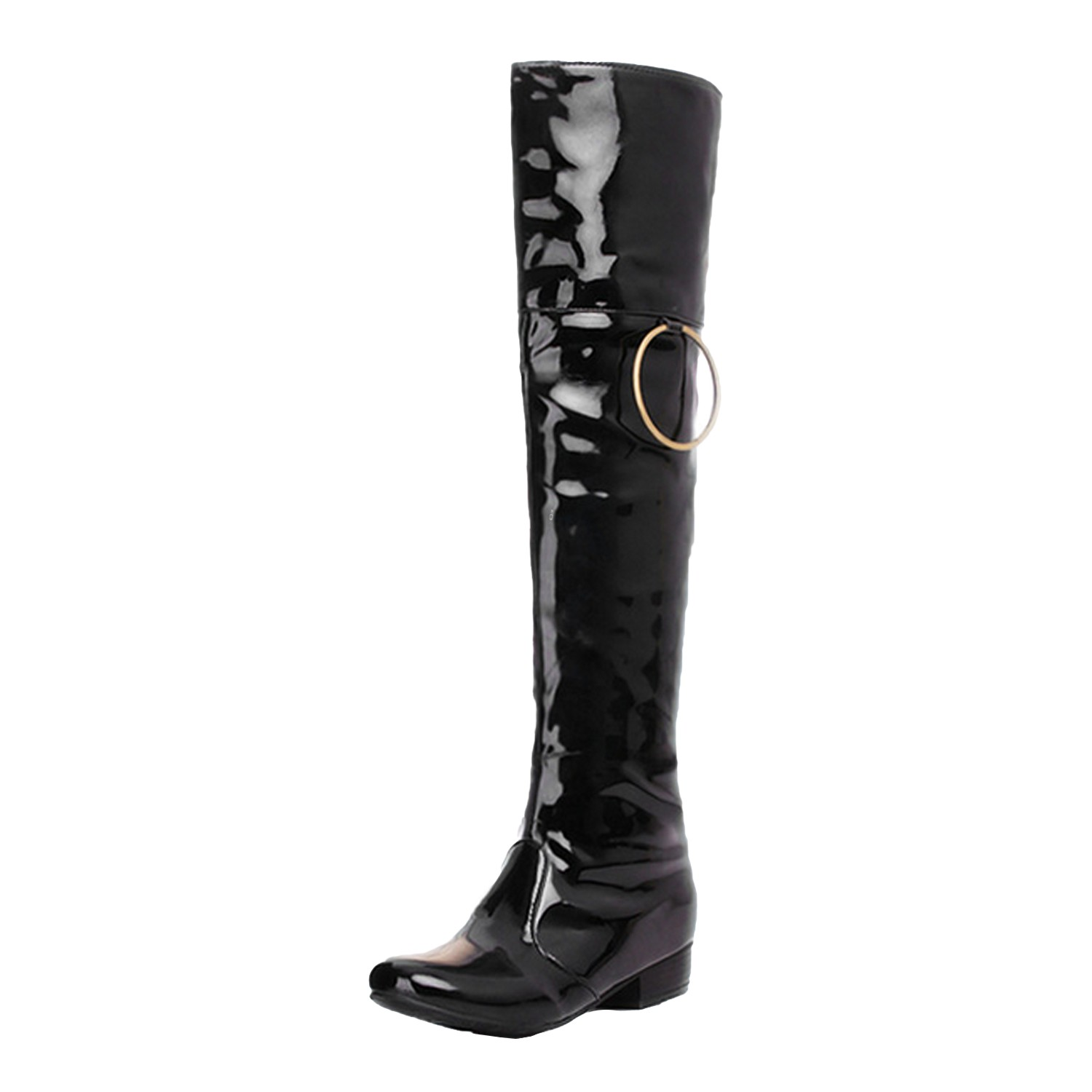 ballett flach schuhe overknee stiefel sexy lackstiefel damen herren boots rot ebay. Black Bedroom Furniture Sets. Home Design Ideas